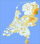 Kaart Nederlandse Familienamenbank: Grooten