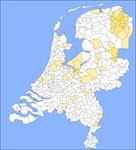 Kaart Nederlandse Familienamenbank: van der Schuur